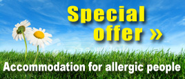 SPECIAL OFFER: Accommodation for allergic people